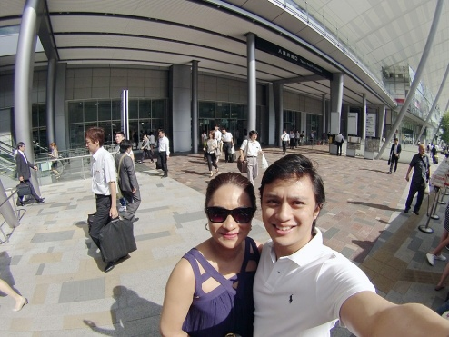 Tokyo: Jon and Chrina Train station